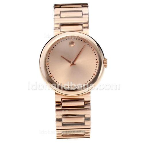 Movado Fiero Full Rose Gold with Champagne Dial 189086