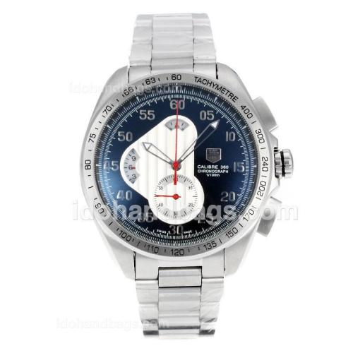 Tag Heuer Carrera Calibre 360 Working Chronograph with Black Dial S/S 174584
