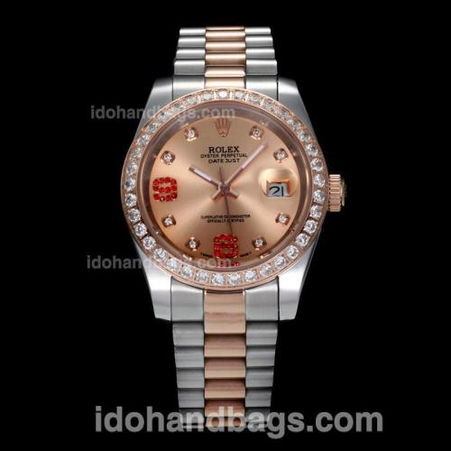 Rolex Datejust II Automatic Two Tone Diamond Bezel and Markers with Champagne Dial(Gift Box is Included) 170250