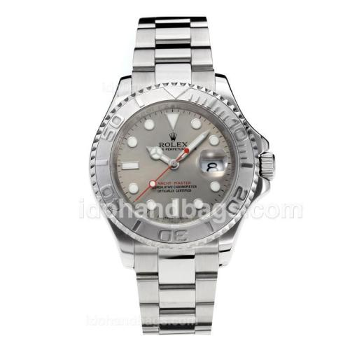 Rolex Yachtmaster Swiss ETA 3135 Movement with Super Luminous Silver Dial S/S-Sapphire Glass 187086