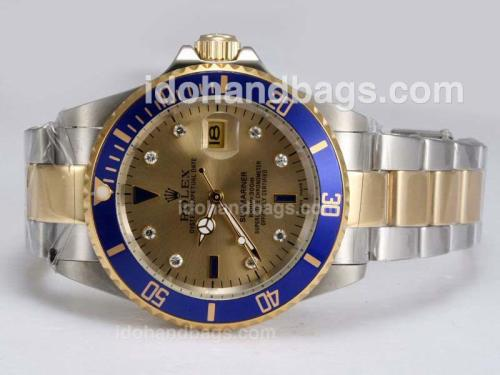 Rolex Submariner Automatic Two Tone with Golden Dial 12359