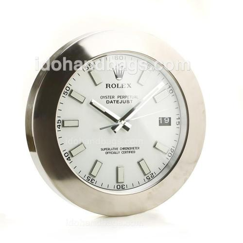 Rolex Datejust Wall Clock with White Dial-White Stick Markers 189282