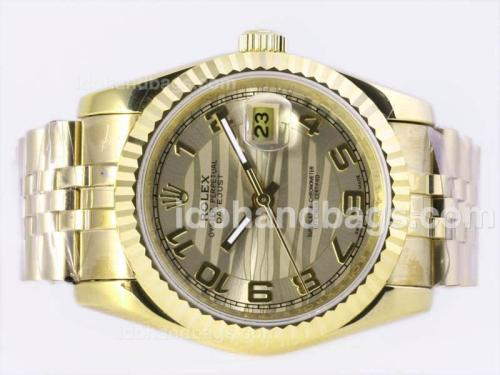 Rolex Datejust Automatic Full Gold with Golden Graphical Dial-Number Marking 23366