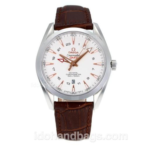 Omega Seamaster Working GMT Swiss ETA 2836 Automatic with White Dial-Sapphire Glass 171466