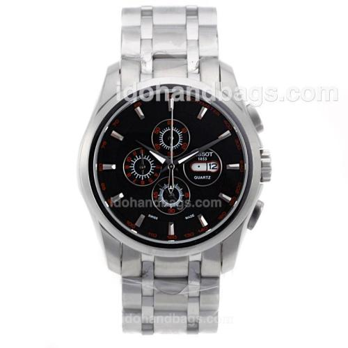 Tissot Sport Working Chronograph with Black Dial S/S 70068