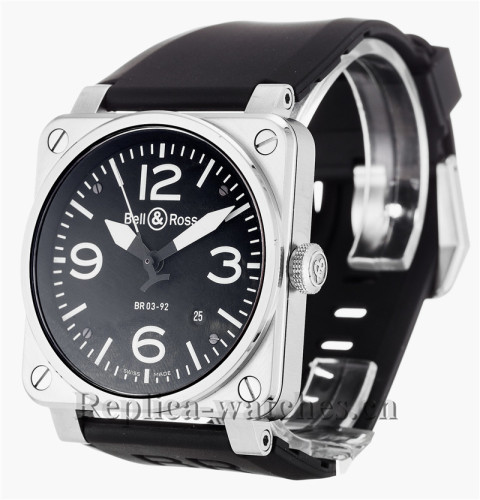 Bell and Ross Black Rubber Strap BR03-92