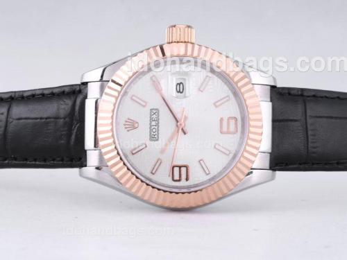 Rolex Datejust Automatic Two Tone Case with White Dial-39mm New Version 27600