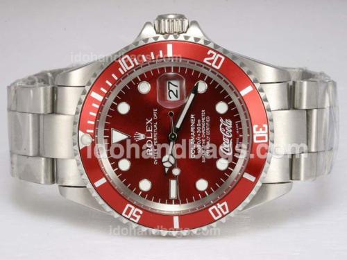 Rolex Submariner Cocacola Limited Edition Automatic with Red Dial and Bezel 11672