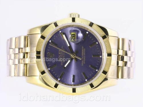 Rolex Datejust Automatic Full Gold with Blue Dial 23364
