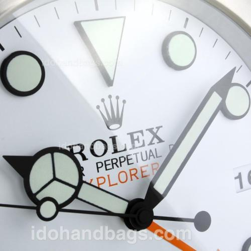Rolex Explorer Oyster Perpetual Wall Clock with White Dial 182892