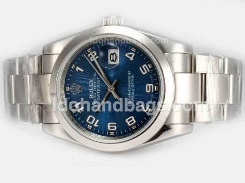 Rolex Datejust Automatic with Blue Dial-2008 New Version Number Marking 19299