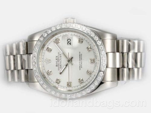 Rolex Datejust Automatic Diamond Marking and Bezel with Silver Dial 20944
