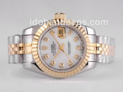 Rolex Datejust Automatic Two Tone Diamond Marking with MOP Dial 26329