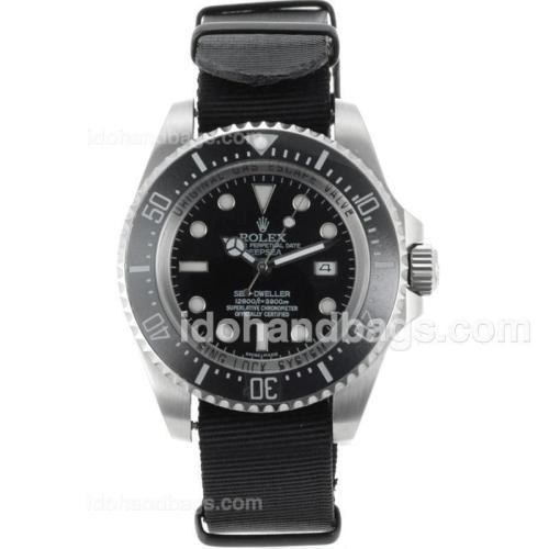 Rolex Sea-Dweller Automatic Ceramic Bezel with Black dial-Nylon Strap 71994
