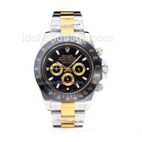 Rolex Daytona II Oyster Perpetual Automatic Two Tone with Black Bezel and Dial 196526