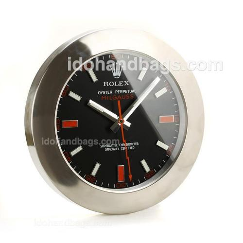 Rolex Milgauss Wall Clock with Black Dial-White Stick Markers 189284