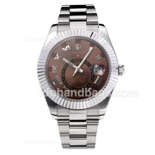 Rolex Sky Dweller Automatic with Coffee Dial S/S-Same Chassis as the Swiss Version 195272