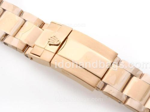 Rolex New Style Oyster Bracelet WIth 18K YG Plated for GMT Version 34221