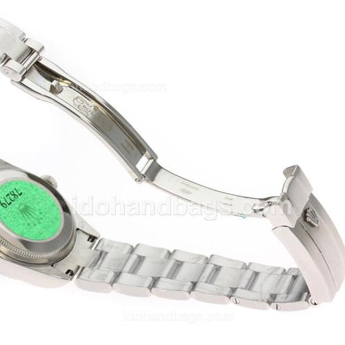 Rolex Air-King Swiss ETA 2836 Movement Roman Markers with White Dial S/S-Mid Size 71762