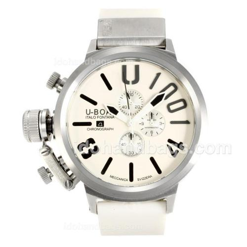 U-Boat Italo Fontana Working Chronograph with White Dial-Black Markers 163204