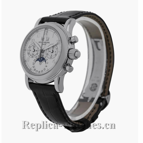 Patek Philippe Replica Grand ComplicationsWhite Gold Perpetual 37MM Watch 5004G014