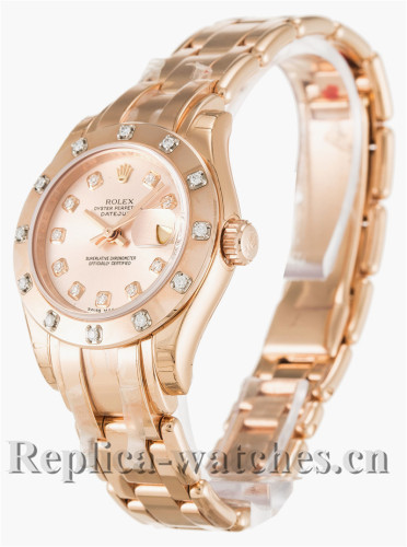 Rolex Pearlmaster Pink Dial 29MM 80315