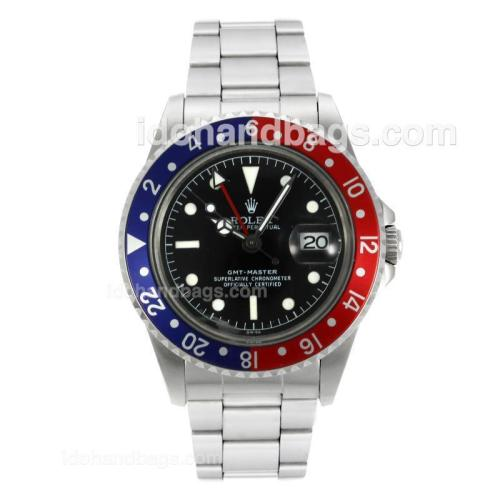 Rolex GMT-Master Swiss ETA 2836 Movement with Black Dial White Markers-Vintage Edition 126798
