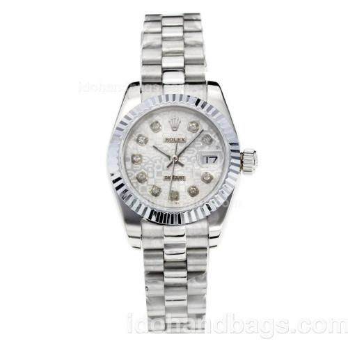Rolex Datejust Automatic Diamond Markers with Computer Dial S/S-Sapphire Glass 187804