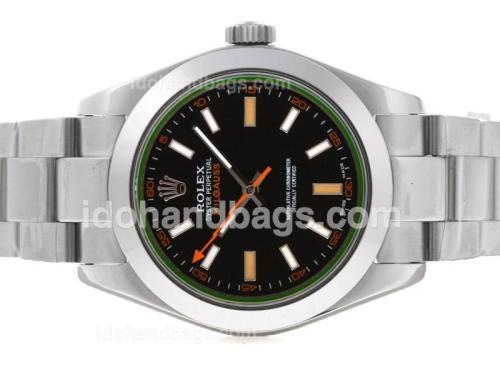 Rolex Milgauss Swiss ETA 3135 Movement with Tinted Green Sapphire 41053