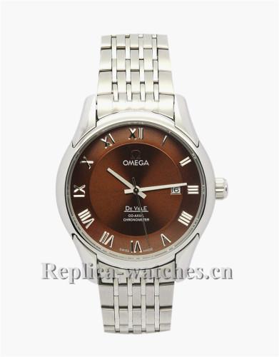 Omega De Ville Hour Vision Brown Dial Watch 41MM