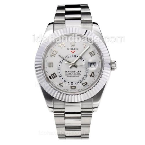 Rolex Sky Dweller Automatic with White Dial S/S-Same Chassis as the Swiss Version 195274