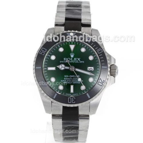 Rolex Sea-Dweller Automatic Ceramic Bezel with Green Dial S/S-Sapphire Glass 119082