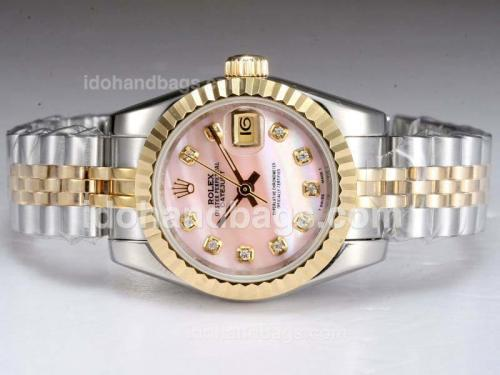 Rolex Datejust Automatic Two Tone with Pink MOP Dial 11926