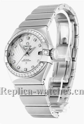 Omega Constellation Ladies White Dial 27MM 123.15.27.20.55.001