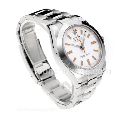 Rolex Milgauss Swiss ETA 3131 Movement with Super Luminous White Dial S/S-Sapphire Glass 187058