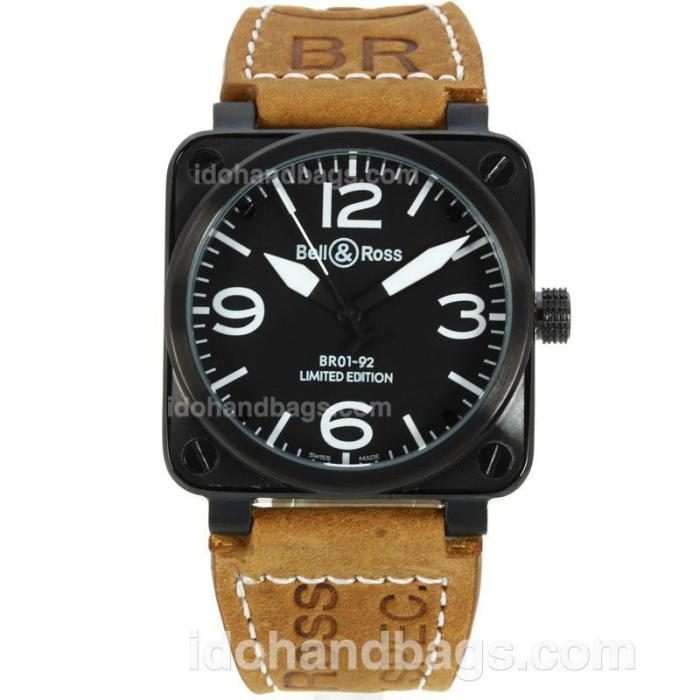 Bell & Ross BR01-92 Limited Edition PVD Case with Black Dial-White Markers-38x38MM 129468