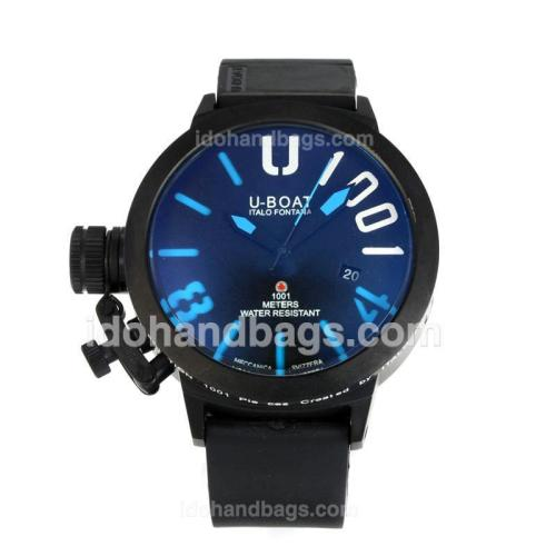 U-Boat Italo Fontana Automatic Full PVD with Dark Blue Dial-Blue Markers 167098