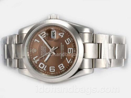 Rolex Datejust Automatic with Brown Dial-2008 New Version 19295