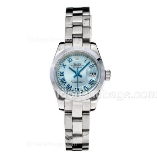 Rolex Datejust Automatic Roman Markers with Blue Dial S/S 178308