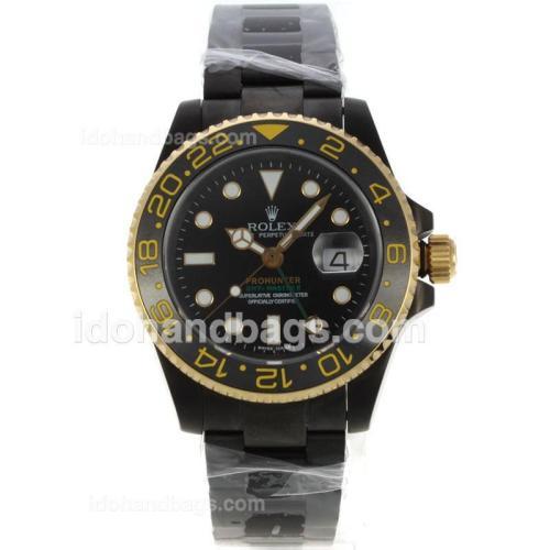 Rolex GMT-Master II Swiss ETA 2836 Movement PVD Case with Black Dial-Sapphire Glass 130730