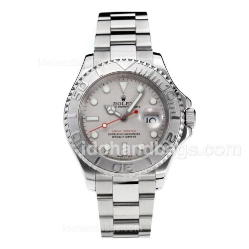 Rolex Yachtmaster Automatic with Super Luminous Grey Dial S/S-Sapphire Glass--Same Chassis as Swiss Version 187080