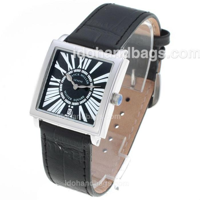 Franck Muller Master Square Roman Markers with Black Dial-Mid Size 72043