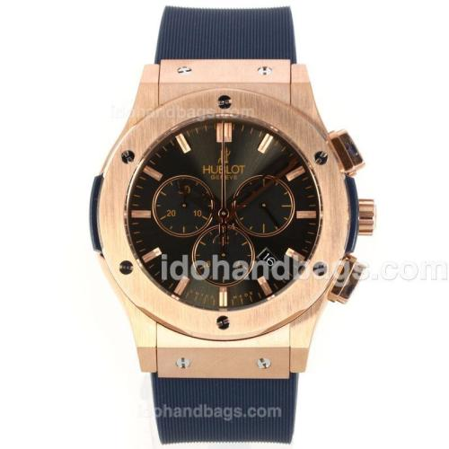 Hublot Big Bang Working Chronograph Rose Gold Case with Grey Dial-Rubber Strap 143534