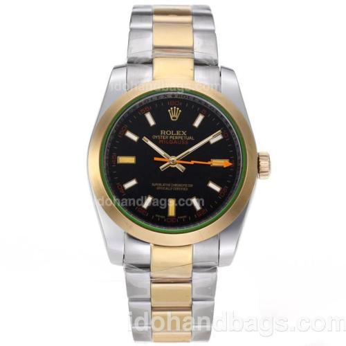 Rolex Milgauss Automatic Two Tone with Black Dial 62007