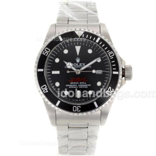 Rolex Sea-Dweller Submariner 2000 Swiss ETA 2836 Movement Vintage Edition with Black Dial S/S-Rivet Strap 118198