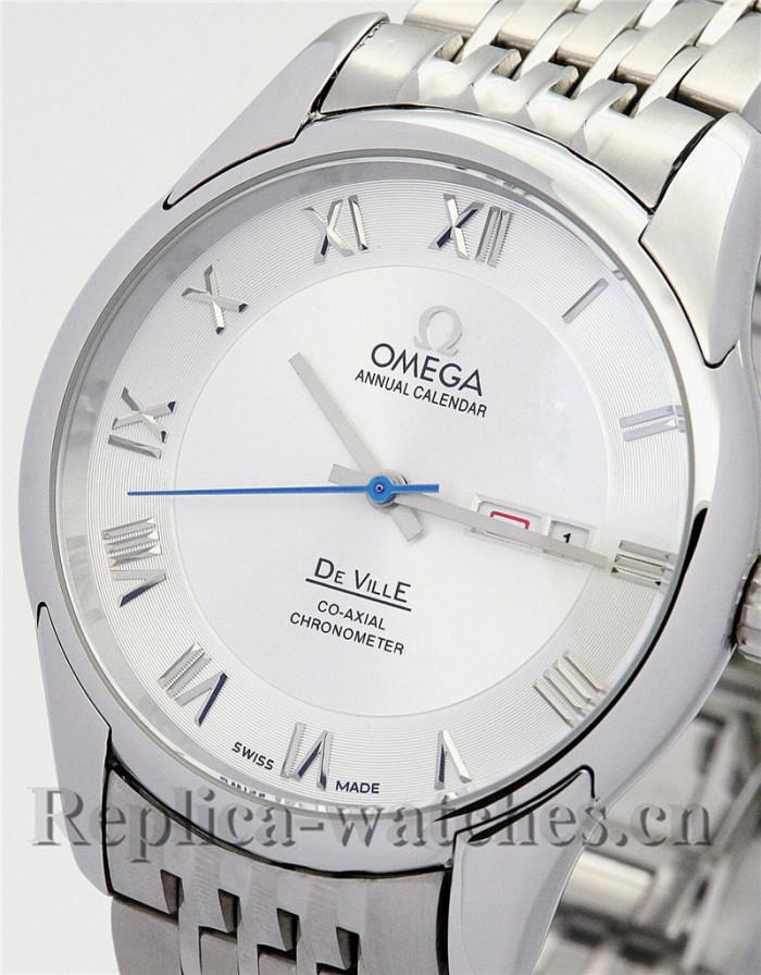 Omega De Ville Hour Vision Stainless Steel Strap White Dial 41MM