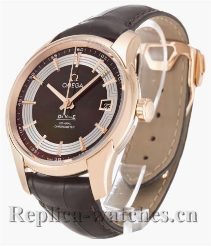 Omega De Ville Hour Vision Black Leather Strap 431.63.41.21.13.001