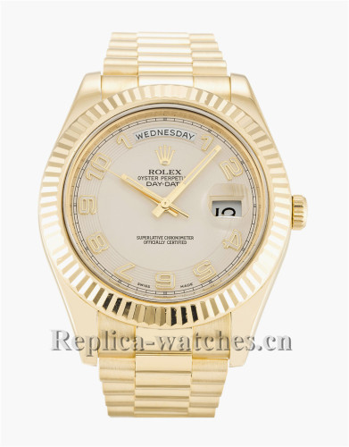 Rolex Day-Date II Stainless Steel Strap 41MM 218238