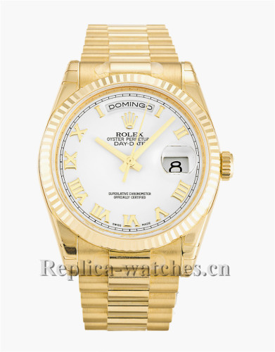 Rolex Day-Date White Dial 36MM 118238
