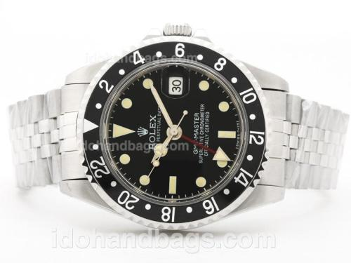 Rolex Vintage GMT SS Black Bezel With Jubilee Bracelet-Same Structure As Swiss ETA Version-High Quality 31904